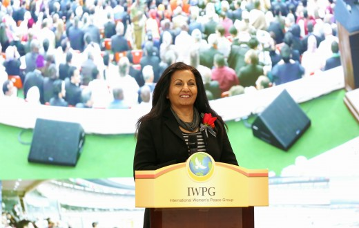 Almas Jiwani  President of the UN Women Commission Canada  speaks at the 20