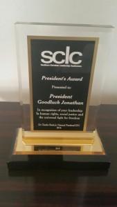 Goodluck-JOnathan-sclc-Award