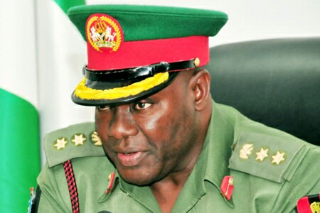 PIC. 26. NEWS DIRECTOR, DEFENCE INFORMATION, COL. RABI ABUBAKAR, SPEAKING TO   NEWSMEN AFTER ASSUMPTION OF OFFICE IN ABUJA ON MONDAY (3/8/15). 5736/3/8/2015/JAU/BJO/NAN
