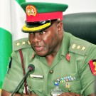 PIC. 26. NEWS DIRECTOR, DEFENCE INFORMATION, COL. RABI ABUBAKAR, SPEAKING TO  5736/3/8/205/JAU/BJO/NAN