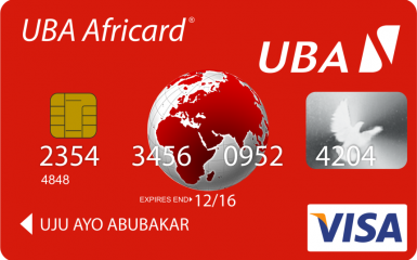 UBA Prepaid card marketing BIN