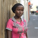 Mcc0065577 The Daily Telegraph   Victoria Yohanna, 15, who escaped from Boko Haram earlier in the year, is in London to address a meeting in the House of Lords. Pictured in Sutton, Surrey. She is visiting fro ten days sponsored by  'Aid to the Church in Need' organisation.  Monday 12/10/15