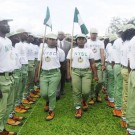 PIC. 13. GOV. CHIBUIKE AMAECHI OF RIVERS   INSPECTING A GUARD OF HONOUR AT THE PASSING OUT   CEREMONY OF NYSC BATCH 'C' CORPS MEMBERS IN PORT HARCOURT ON THURSDAY (10/10/13).