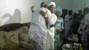Aregbesola & Fayose embrace each other