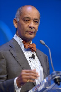 Ken Olisa, boardmember, speaks during the Institute of Directors annual conference at the Royal Albert Hall, London.