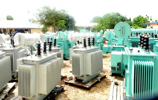 PIC. 14.  50 UNITS OF ASSORTED POWER DISTRIBUTION TRANSFORMERS BEING LAUNCHED    BY GOV. IBRAHIM DANKWAMBO OF GOMBE STATE ON FRIDAY (21/10/11), WITH THE AIM OF   IMPROVING POWER SUPPLY AND  TO BOOST ECONOMIC DEVELOPMENT IN THE STATE.