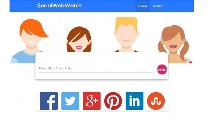 Check your social signals count for Facebook, Google+, LinkedIn and Pinterest shares and likes with SocialWebWatch.com