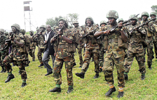 Pic: Nigeria Army on Parade