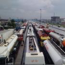 Apapa road blocked by Tankers